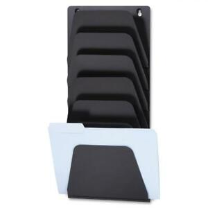 Oic 7 Compartment Wall File Holder Black 7 Each quantity