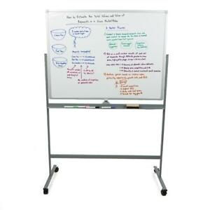 Mind Reader Portable Magnetic Dry Erase Double Sided Easel White Board With