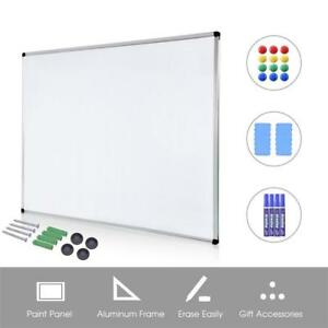Dry Erase Board White 36x48 Inch Magnetic With 2 Erasers 4 Markers And 12