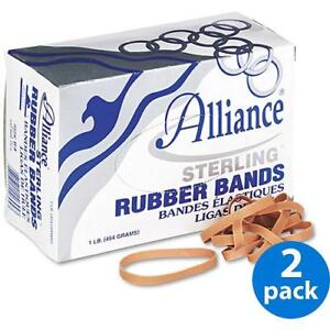 Alliance Sterling Ergonomically Correct Rubber Bands 64 425 box 2 Boxes