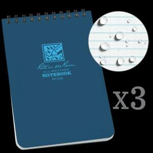 Rite In The Rain All weather Top spiral Notebook 4 X 6 Blue Cover