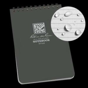 Rite In The Rain All weather Top spiral Notebook 4 X 6 Gray Cover