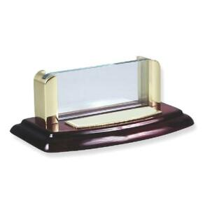 Ice Carats Wood Acrylic Business Card Holder Desk Accessory Busines Case
