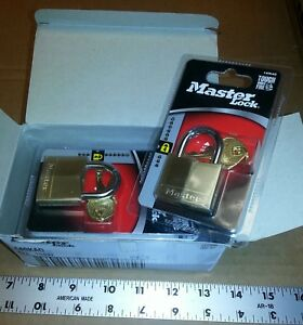 Master Lock Model 140kad Padlocks Qty Of 6 Keyed Alike For 1 Price New