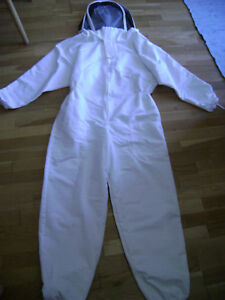 Heavy duty Beekeeping Suit With Fencing Veil Size Small