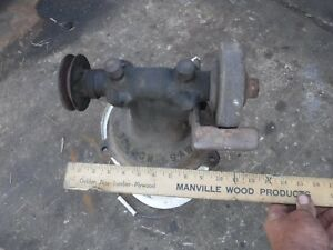 Vintage Bench Grinder Antique Blacksmith Hitmiss Stationary Engine