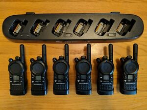 6 Motorola Cls1410 Uhf Business Two way Radios With Multi unit Charger