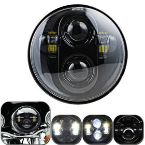5 75 Led Motorcycle Led Headlight Projector Drl Headlamp For Harley Sportster