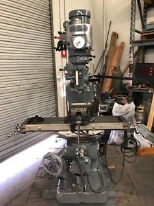 Bridgeport 9 X 42 Milling Machine 1 5 Hp 3 Axis Power Feeds 2 Axis Dro