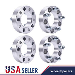 4pcs 1 5 5 Lug 5x5 Wheel Spacers Adapters 14x1 5 Stud For Jeep Chevy Gmc C1500