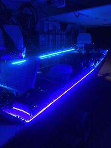 Wireless Waterproof Led Strip Light Car Boat Interior Accent Lights Kit 16ft