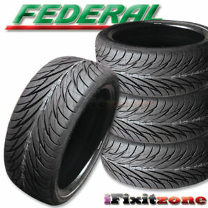 4 New Federal Ss 595 205 40zr17 80v Bsw All Season Uhp High Performance Tires