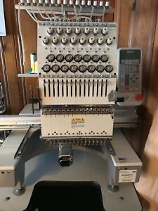 Used Embroidery Machine Toyata Esp 9000 With 15 Head Needles