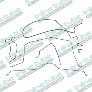 1968 Chevrolet Corvette Manual Disc Complete Brake Line Kit Set 9pc Oem Steel