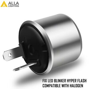 Alla Lighting Turn Signal Hazard Led Flasher Relay Ef32 2pin No Fast Hyper Flash