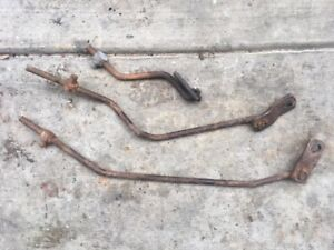 1965 1966 Mustang 4 Speed Borg Warner T 10 Hurst Shifter Linkage Rods W Levers
