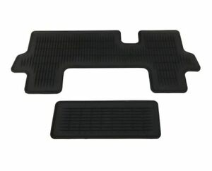 Genuine Toyota Highlander Rubber All Weather Floor Mats liners Aisle 3rd Row O
