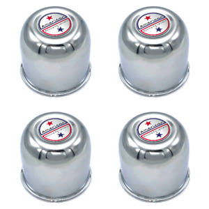 X4 3 25 Chrome Push Thru Center Cap American Racing Logo For Jeep Aftermarket