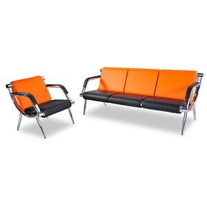 Airport Waiting Room Chair Set Office Reception Pu Leather Guest Sofa Modern