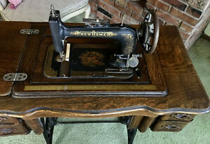 Rare Antique Treadle Sewing Machine By New Home Late 1800 S Beautiful