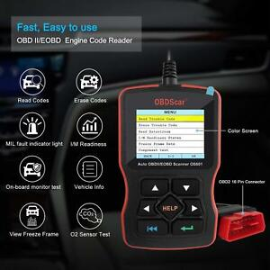 Obdscar Os601 Eobd Obd2 Scanner Automotive Engine Fault Code Reader Can