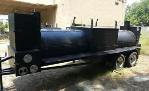 T Rex Pro Bbq Smoker Grill Trailer Business Food Truck Concession Street Vendor