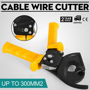 New Steel Ratchet Cable Cutter Hand Wire Ratcheting Cutting Tool Up To 300 Mm