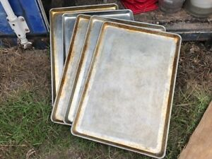 Lot Of 5 Perforated Holes Commercial Food Cooking Baking Bakery Sheet Pans 18x26