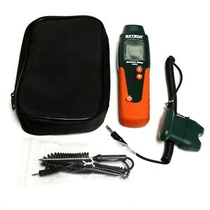 Extech Mo220 Wood Moisture Meter With Temperature Adapter Carry Case