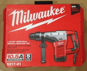 Milwaukee 5317 21 1 9 16 Sds max Rotary Hammer