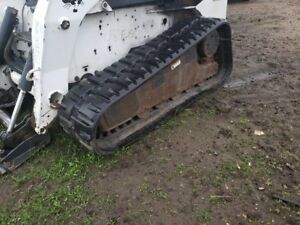 07 Bobcat T320 Track Steer Pair Of Oem Bridgestone 450x86x55 Tracks 6678749