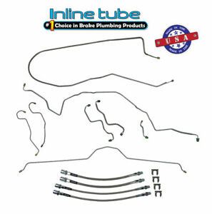 70 73 Chevrolet Corvette Power Disc Brake Line Kit Ss Flex Hose Set Stainless