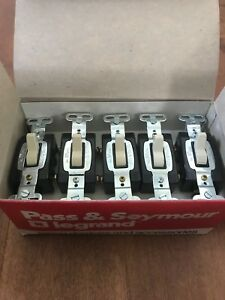 10 Pack pass Seymour Legrand Commercial 15a Toggle Switch 3 way Ivory brown