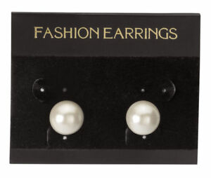 Hanging Black Velour Earring Cards 300 2 1 2 X 2 J Channel Display Card
