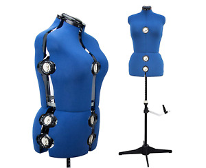 Seamstress Mannequin Torso Adjustable Plus Size Tailors Dressmaking Dress Form