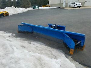 Daniels Straight Blade Snow Plow For Skid Steer Or Mini Loader Cat Case Bobcat