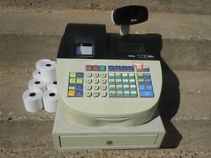 Royal Alpha 710ml Cash Register Pre owned Working No Keys For Parts Or Repair
