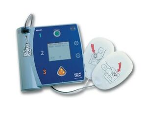 Philips Heartstart Fr2 Aed W Battery Adult Pads Carry Case Spanish Model