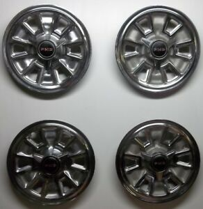 1967 Pontiac Gto Tempest Lemans Spinner 14 Inch Hubcaps Wheel Covers Lot Of 4