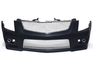 Cadillac 08 13 Cts v Style Front Bumper W Chrome Front Grille With Fog Lights
