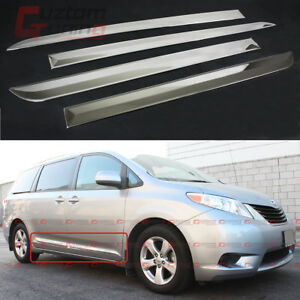 For 2011 17 Toyota Sienna Le Xle Stainless Steel Side Body Molding Moulding Trim