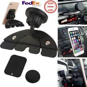 Magnet Phone Holder Car Cd Slot Mount Stand For Iphone Samsung Gps Mp4 5 Tablet