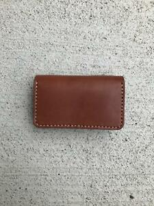 Tochigi Leather Business Card Holder Hand Made Made In Japan Free Shipping