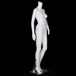 Plastic Base Female Mannequin White Clothes Stand Body Display Adult Realistic