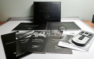 Oem 2011 Bentley Continental Flying Spur Speed Owners Manual Set Remote Control