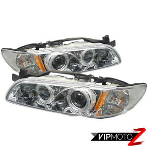 Dual Halo Projector Headlights Pair Left Right Assembly 97 03 Pontiac Grand Prix