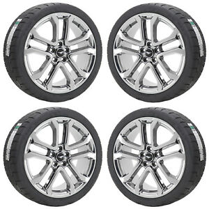 20 Ford Mustang Gt Pvd Chrome Wheels Rims Tires Factory Oem 2018 2019 Set 10167
