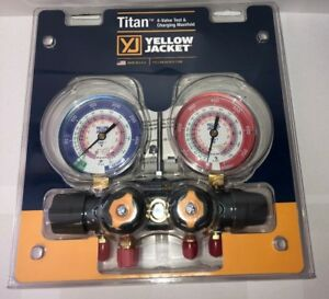 Yellow Jacket 49963 Titan 4 valve Manifold Only R 22 404a 410a