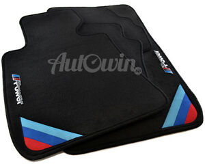 Bmw 3 Series F34 F34 Lci Gt Black Floor Mats With M Power Emblem With Clips