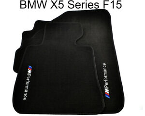 Bmw X5 Series F15 Black Carpets With M Performance Emblem 2014 2016 Lhd New